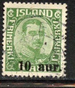 Iceland # 139, Used. CV $ 3.50