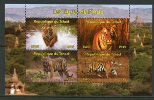 Chad MNH S/S Tigers Of India 2015