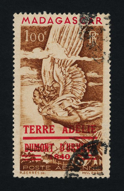 Malagasy C54 used - Allegory of Air Mail, Terre Adele o/p