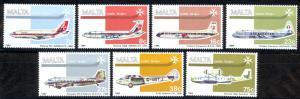 Malta Sc# C15-C21 SG# 729/35 MNH 1984 Air Post