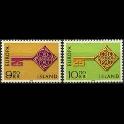 ICELAND 1968 - Scott# 395-6 Europa Set of 2 LH