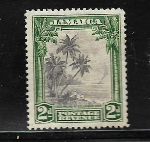 JAMAICA, 106, MINT HINGED HINGE REMNANT, COCO PALMS