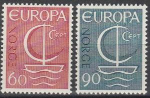 Norway #496-7 F-VF Unused CV $5.00  (C7161)
