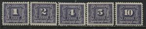 Canada 1930-32 Postage Dues complete set unmounted mint NH
