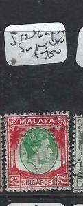 SINGAPORE    (P0906B)  KGVI  $2.00  SG. 14   VFU