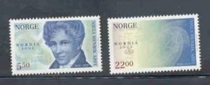 Norway Sc 1346-7 2002 Nordica 2002 ovpt stamp set mint NH
