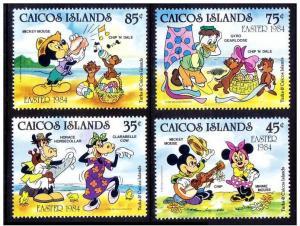 CAICOS ISLANDS 4 SETS DISNEY
