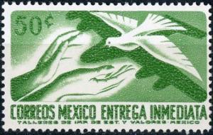 Mexico #E20 Hands & Pigeon MNH
