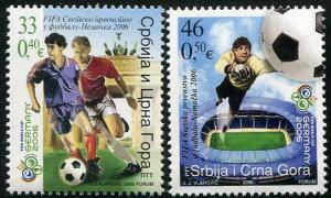HERRICKSTAMP SERBIA Sc.# 336-37 2006 World Cup Soccer Stamps
