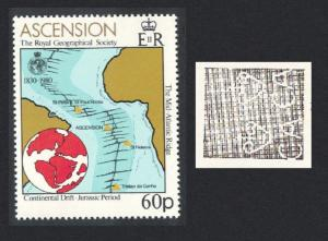 Ascension Royal Geographical Society 60p WATERMARK variety 1980 MNH SG#276w
