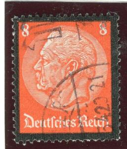 GERMANY;    1934 early Hindenburg memorial issue fine used 8pf. value