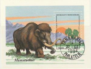 Malagasy Republic 1995 Prehistoric Animals Mammuthus Sheet Used 11890