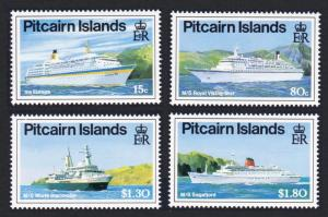 Pitcairn Cruise Liners 4v SG#395-398 SC#350-353