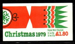 Great Britain Sc BK709 £1.80 Christmas bklt mint NH
