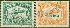 South West Africa 1930 Air set of 2 SG70B-71B Later Print V.F.U