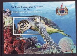 BIOT-Sc#467a-unused NH sheet-Marine Life-Turtles-2016-