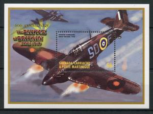 Grenadines Grenada 2000 MNH WWII Battle of Britain 1v SS Hawker Hurricane Stamps