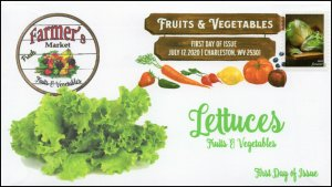 20-159, 2020, SC 5490, Fruits & Vegetables, FDC, Digital Color Postmark,