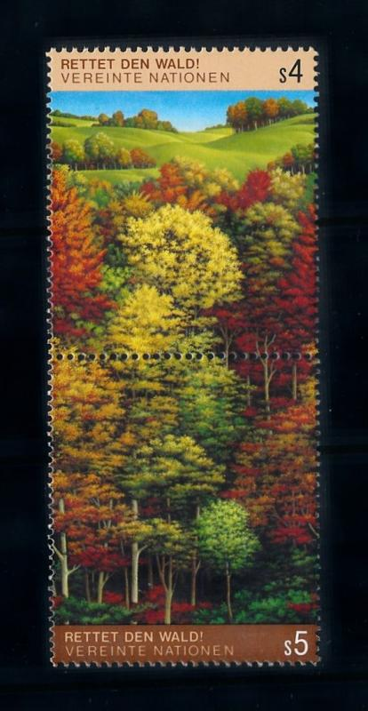 [69812] United Nations un Geneva 1988 Flora Trees Baumen  MNH