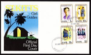 St. Kitts – 1981 Girl Guides/Scouts FDC