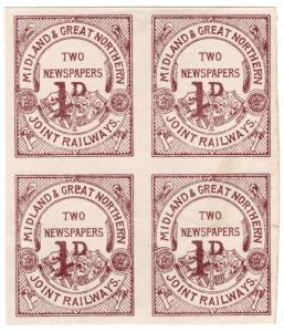 (I.B) Midland & Great Northern Joint Railways : Newspaper Parcel 2d