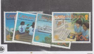 CAYMAN ISLANDS (MK6648) # 745-748 VF-MNH  VARc 1997 TELECOMMUNICATIONS