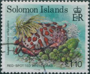 Solomon Islands 1993 SG764 $1.10 Red-spotted White Crab FU
