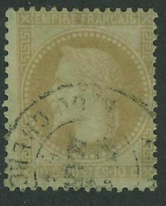 France 1863-70 SC#32  Napoleon III, 10c used