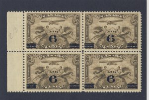 4x Canada Air Mail Stamps; #C3-6c/5c Block 2xMNH 2xMH VF Guide Value = $120.00