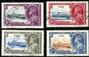 Fiji Stamps # 110-13 Used XF Scott Value $34.00