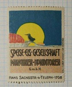Munchiner Konditoren Food Ice Cream Co German Brand Poster Stamp Ads