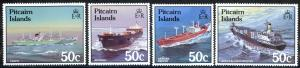 Pitcairn Islands Sc# 281-284 MNH 1987 Ships