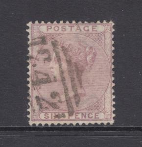 Great Britain Sc 27 used 1852 6p lilac Queen Victoria, 242 in grid cancel