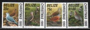 Belize # 1059-62 ~ Cplt Set of 4 ~ Christmas, Doves ~ Unused, HMR
