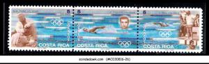 COSTA RICA - 1996 SUMMER OLYMPIC GAMES ATLANTA - SE-TENANT X 3 - MINT NH