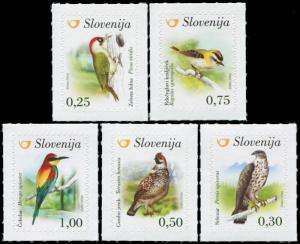 Slovenia. 2016. Birds of Slovenia (MNH OG) Set of 5 stamps