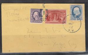 USA #241 Used With 1cent Franklin And 3cent Tied On Made Up Cover