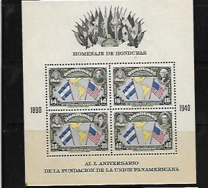 HONDURAS, C99, MINT HINGED, SS OF 4, FLAG TYPE