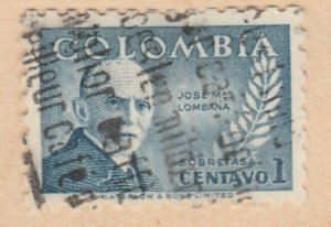 Colombia 1952 1c Fine Used A8P55F89
