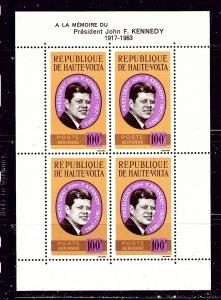 Burkina Faso C19a MNH 1964 John F Kennedy S/S