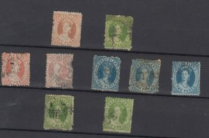 Queensland QV Chalon Unchecked Collection Of 9 Fine Used JK6336