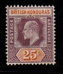 British Honduras Sc 67 1906 25c violet & orange Edward VII stamp mint