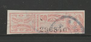 Paraguay Revenue Fiscal Stamp 12-14-20-4b