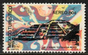 MEXICO C354, TOURISM PROMOTION, TEOTIHUACAN PYRAMID. MINT NH
