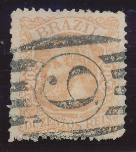 Brazil Stamp Scott #81, Used - Free U.S. Shipping, Free Worldwide Shipping Ov...