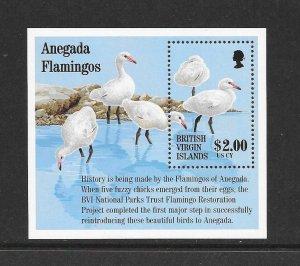 BIRDS - VIRGIN ISLANDS #815  FLAMINGOS  MNH
