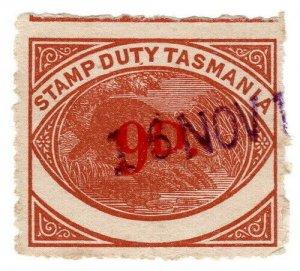 (I.B) Australia - Tasmania Revenue : Stamp Duty 9d (1940)