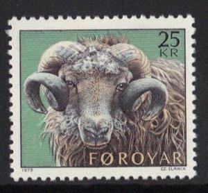 Faroe Islands  #42  MNH    1979  sheep - rearing