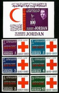 Jordan Stamps NH Used OG set S/S