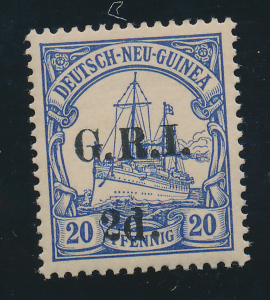 New Britain Stamp Scott #19, Mint, Nearly Full Gum, Good Centering - Free U.S...